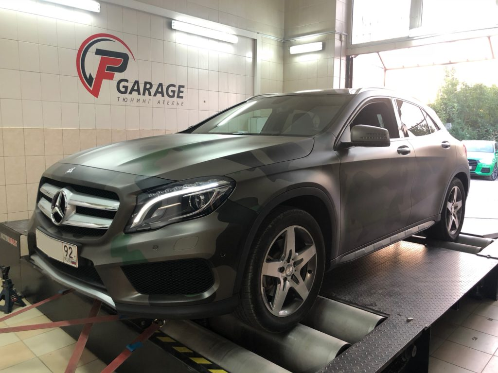 Mercedes-Benz GLA250 изготовление даунпайпа и стейдж2